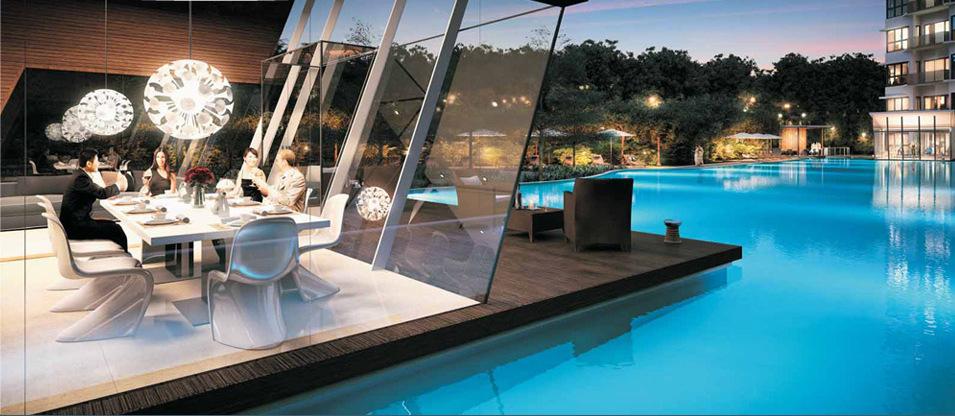 Boathouse Residences Lounge . By Frasers + Sekisui House . Developer for Seaside Residences